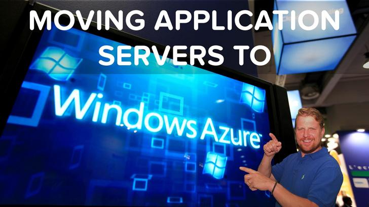 moving application server to azure to speed up application