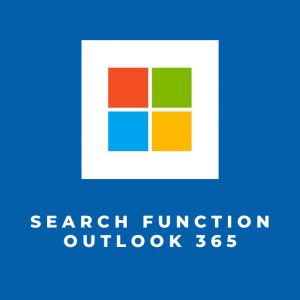 Search function Outlook 365
