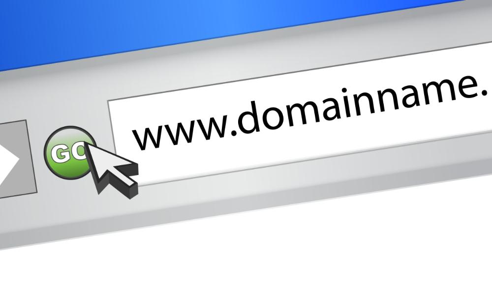 domeinnaam in browservenster