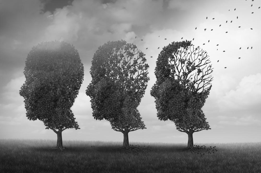 bomen die zo zijn geknipt dat ze op mensenhoofden lijken